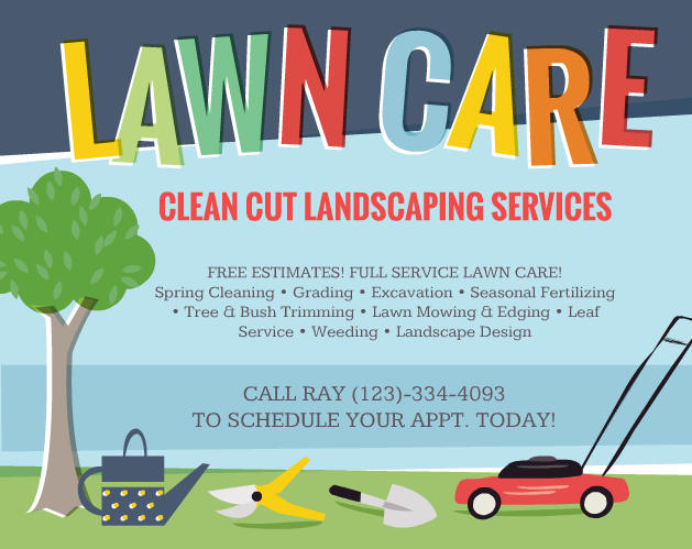 Lawn care flyers should you use them the lawn solutions for Landscaping flyers templates